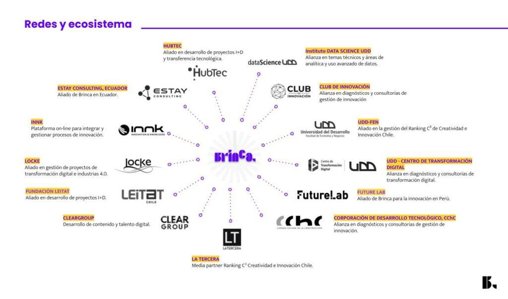 Consultora de innovación, Brinca, Redes y Ecosistema