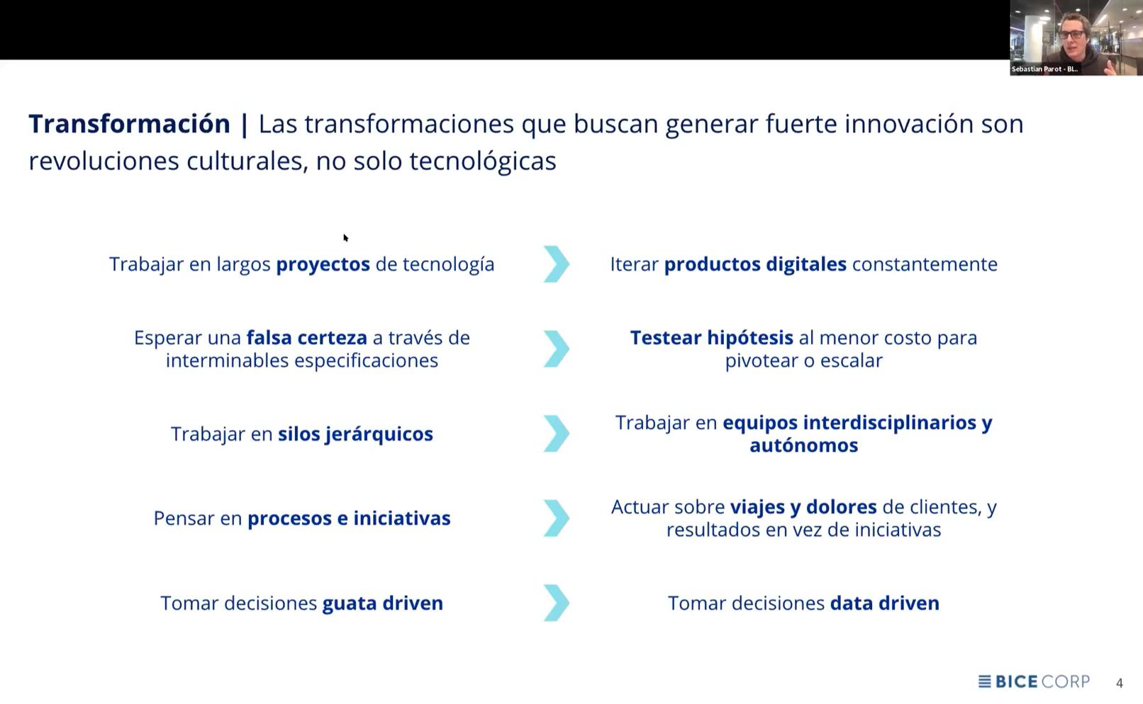 Las transformaciones que buscan generar fuerte innovación son revoluciones culturales, no solo tecnológicas